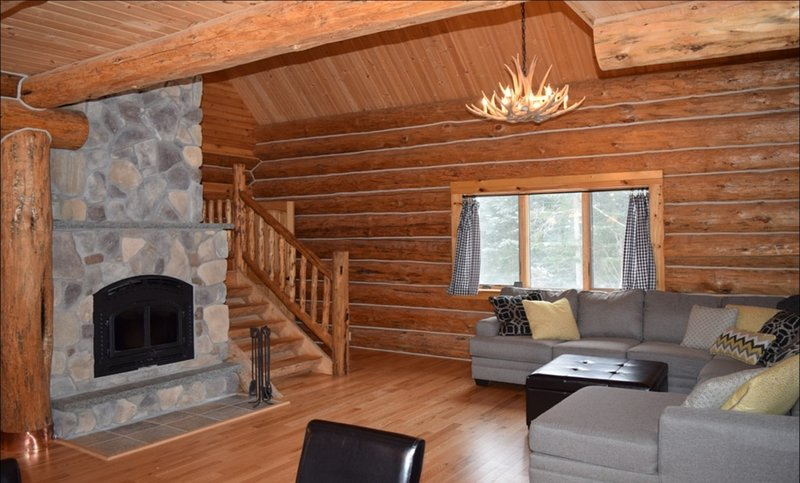 Great Room with Living-Dining-Kitchen on Main Floor.