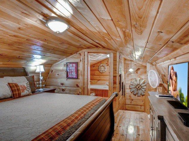 Rolling in cabina di fieno con letto matrimoniale