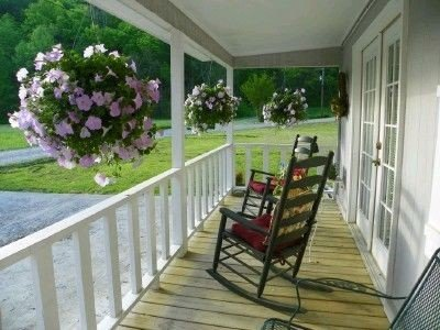Rocking chairs on the covered porch