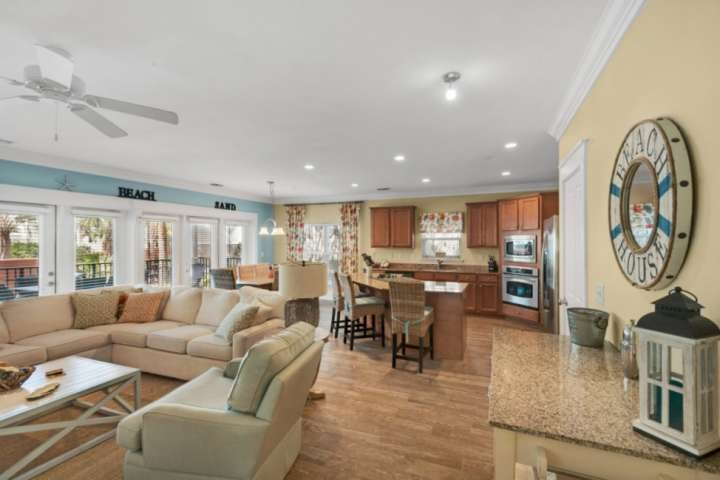 Large open concept living area