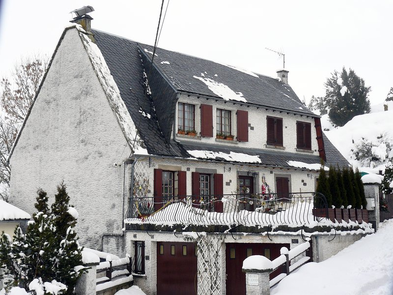 house in winter (to the main street)