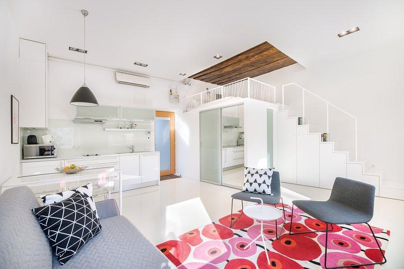Toughtfully designt spacious studio apartment.