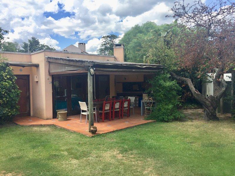 vista frontal del bungalow
