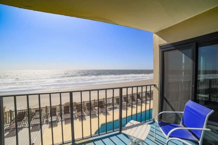 Enjoy beautiful sunrise from this private oceanfront balcony
