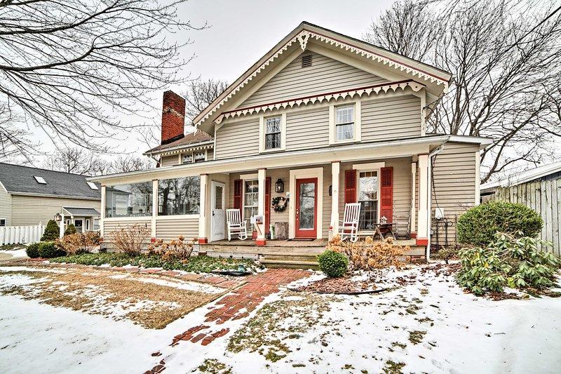 Scappare a questa affascinante casa in affitto Conneaut!
