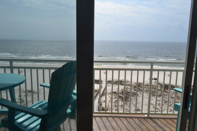 Living Room view of Balcony and Gulf of Mexico
