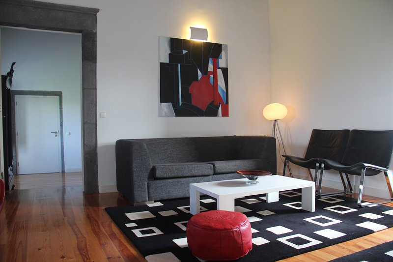 Red Apartment - living room