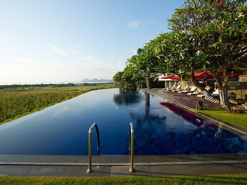 Sanur Residence - View across the pool towards Sanur