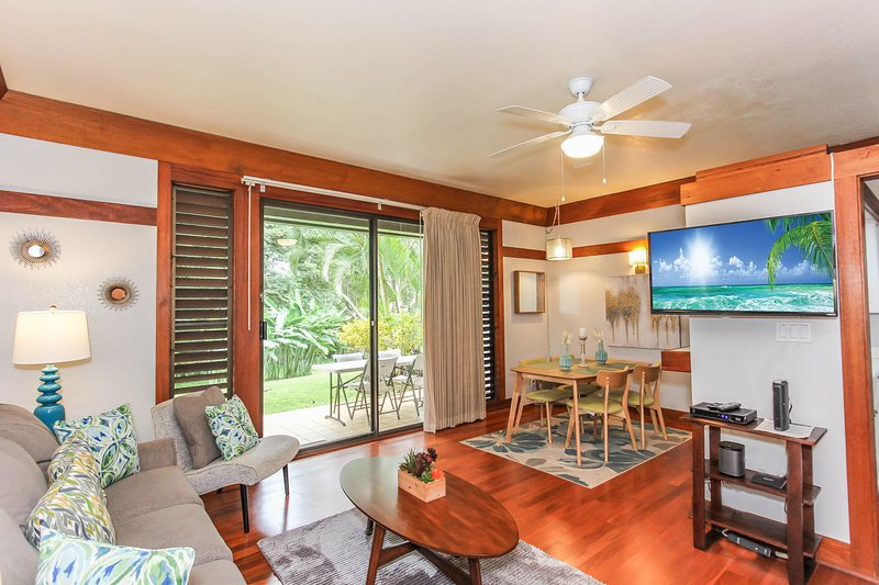 Living Room, Dining Room and Lanai