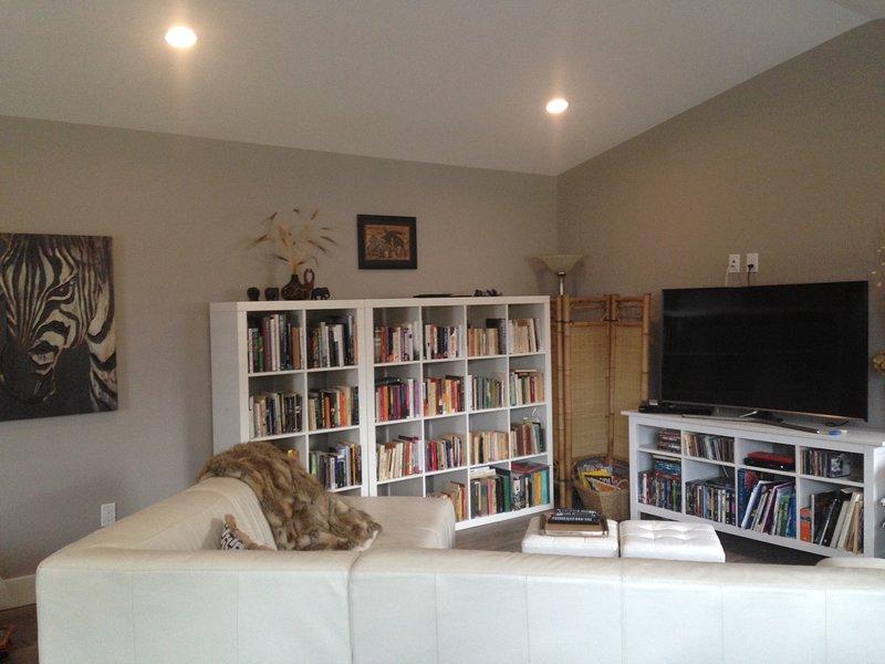 TV, sala de lectura
