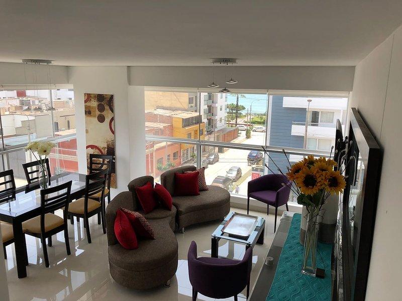 New apartment ocean view close to Miraflores, holiday rental in La Victoria