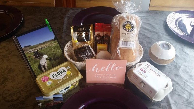 Welcome pack on arrival