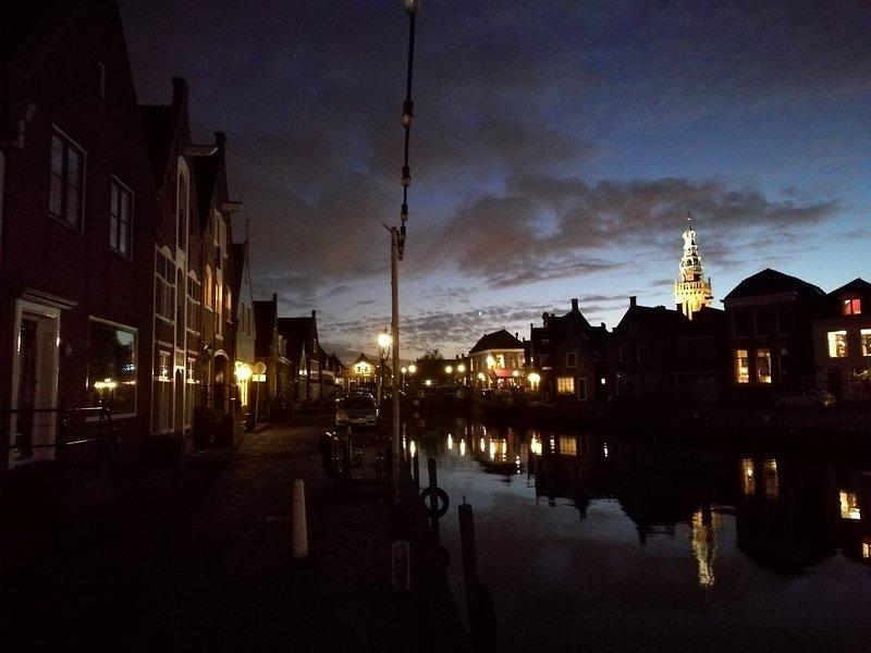 Picturesque Gooische Quay, Location of The Dutch Buoy, Amsterdam Metropolitan Area.