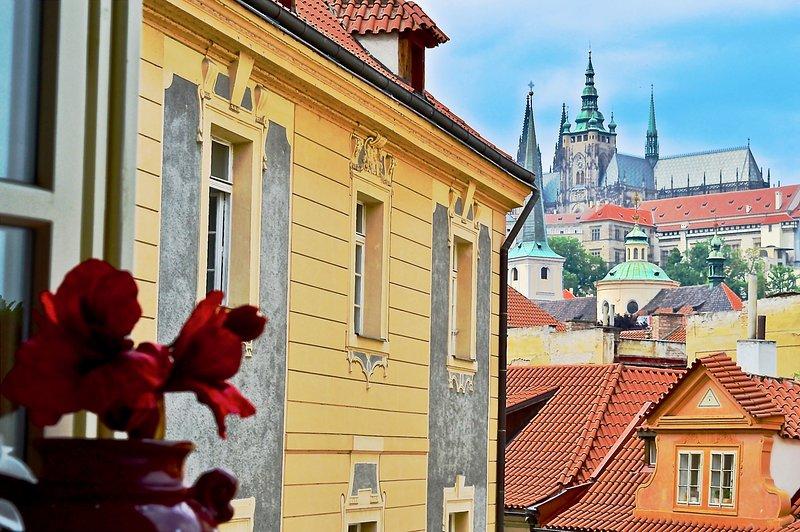 Vista da sala de estar de Castelo de Praga.