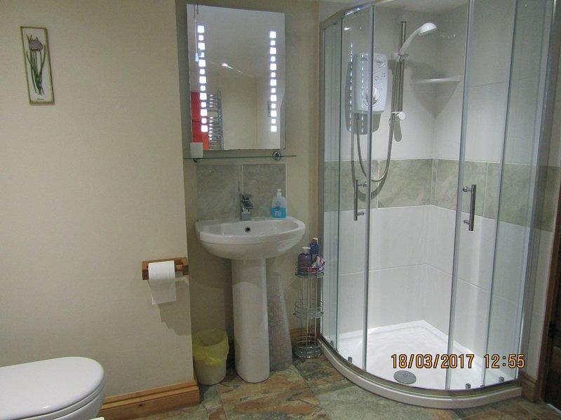 en douche