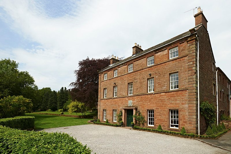 Melmerby Hall - the front entrance showing the 'Archery Lawn' to the left