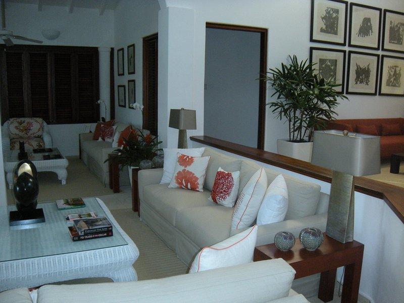 Main living area beautifully decorated