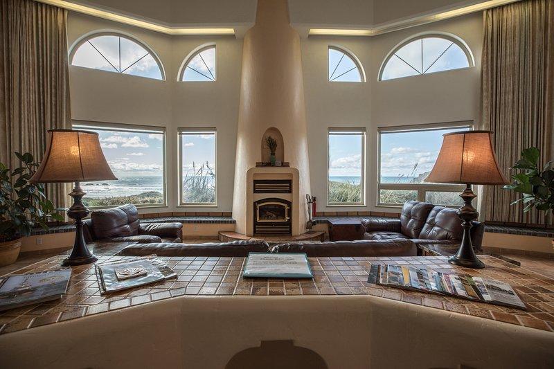 Panoramic Ocean Views from Living Room