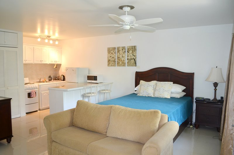 Cozy & Safe Seawind On The Bay Studio Apartment Free Beach Access OLR, holiday rental in Saint James Parish
