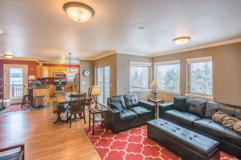 The spacious windows throughout provide gorgeous views and plenty of natural light.