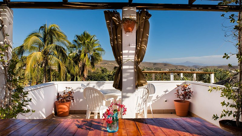 Terrace with views from Todos Santos and the sea.