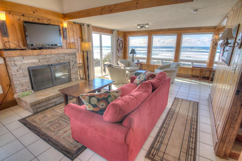 Enjoy this tastefully remodeled beachfront home.