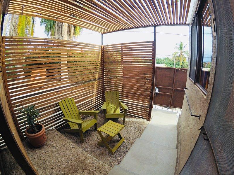 Private patio.