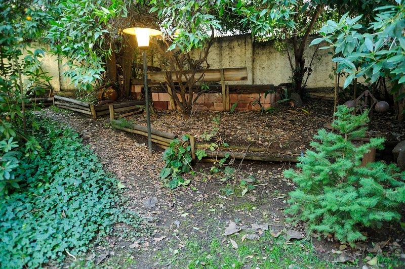 Pátio e jardim privado / pátio e jardim privado