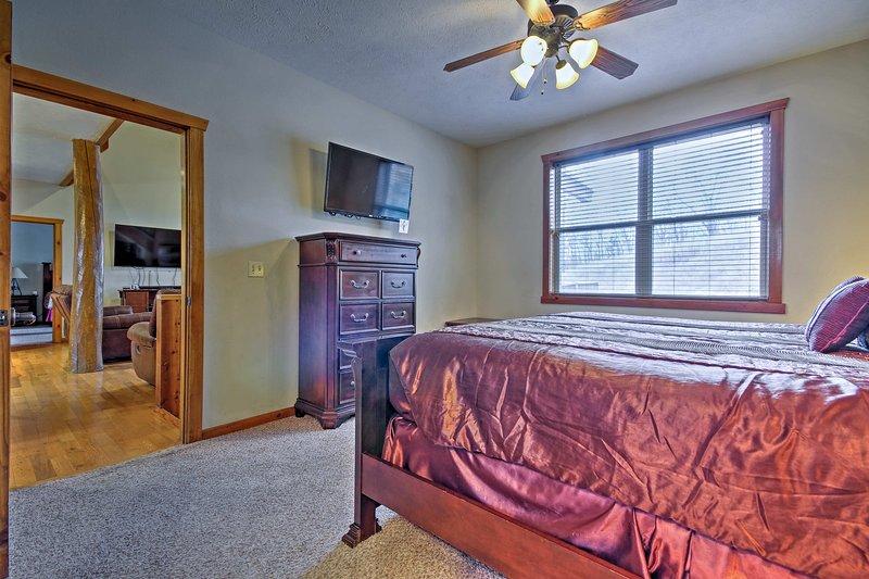Cette chambre se trouve à quelques pas de la principale zone de vie.