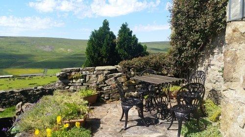 Private Terrasse mit herrlichem Blick Arkengarthdale Blick