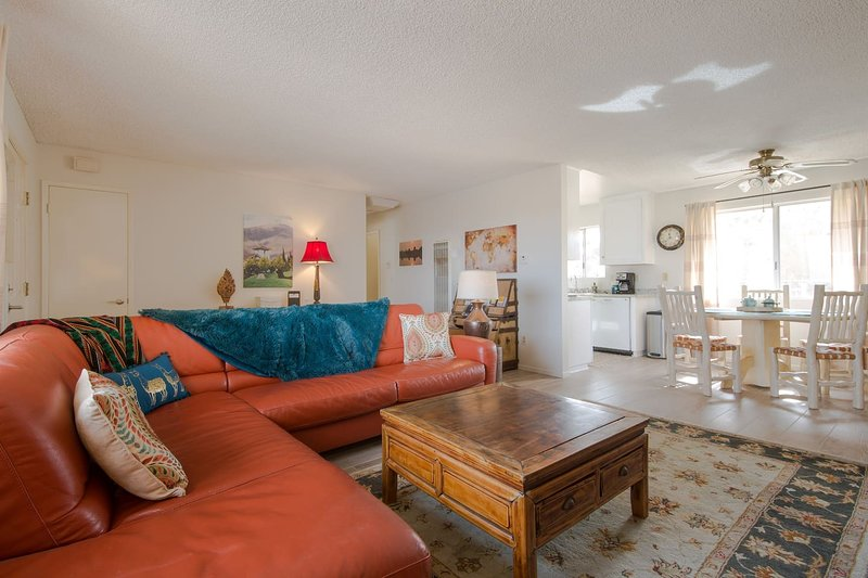 This peaceful, spa like, cozy property is located IN Joshua Tree.  It's the perfect JT home base.