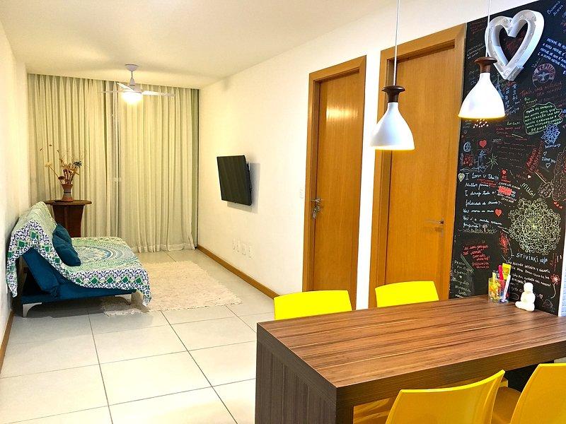 Habitación y la cocina / sala de estar y cocina
