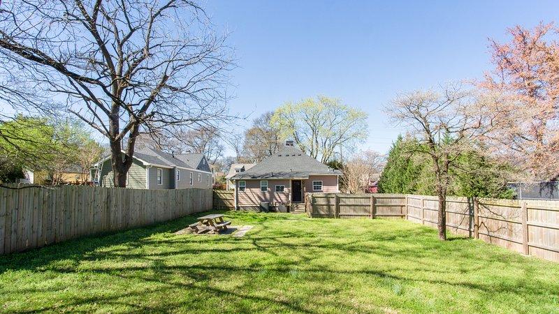 Large Fenced Backyard
