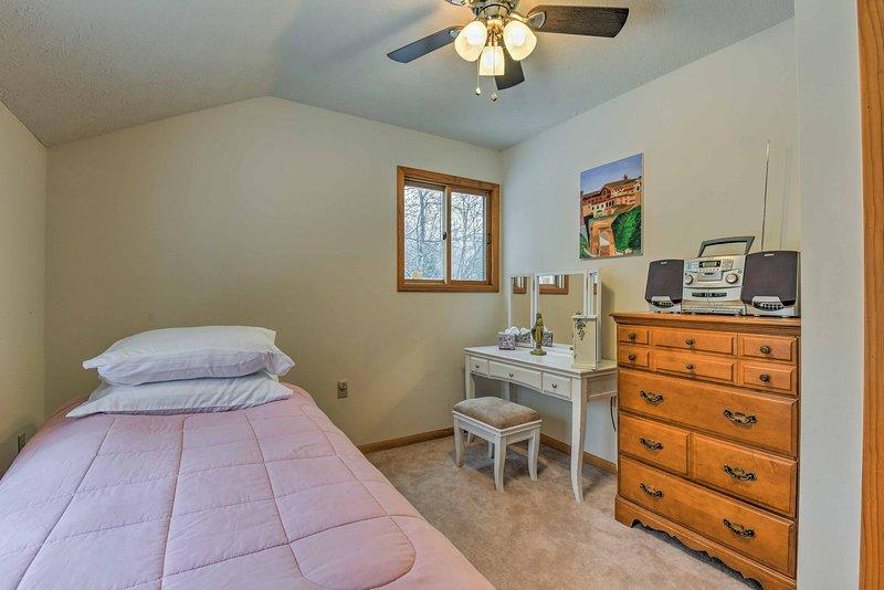 El tercer dormitorio asegura una noche de descanso en el segundo piso.