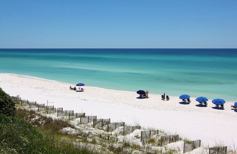 Seagrove Sits on a High Bluff Above the Beach