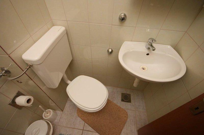 WC 2, Oberfläche: 1 m²