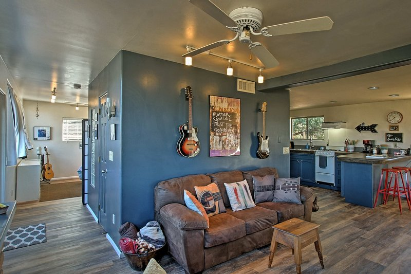 Ample furnishings allow everyone to relax in comfort.