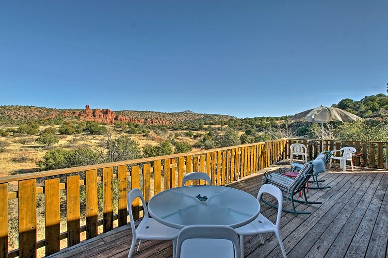 Savor morning coffee or an evening nightcap on the expansive back deck.