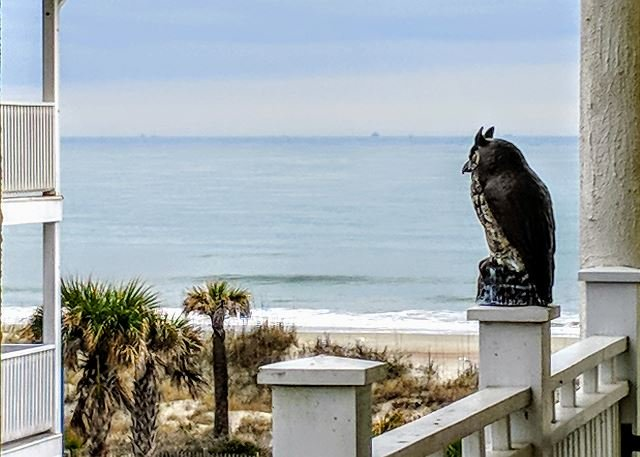 balcon vue sur l'océan