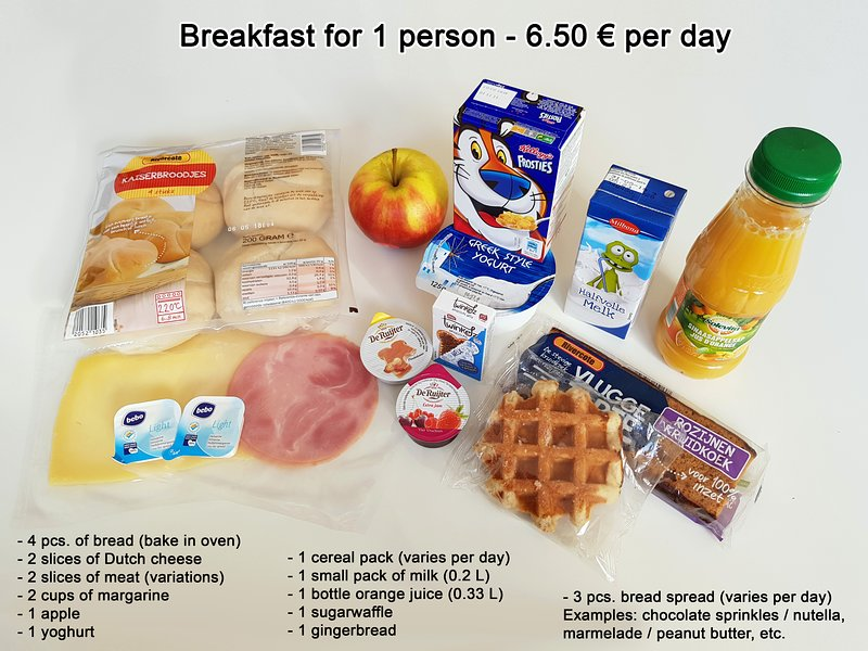 Breakfast is optional and can be booked for 6.50 € per person per day