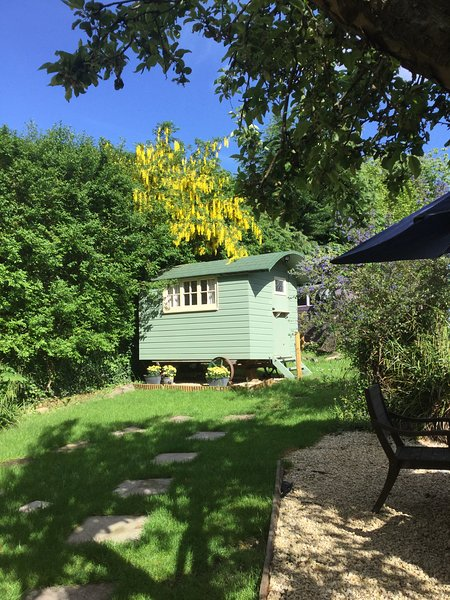 This is our Cosy Shepherds hut , sleeps 2 in a double bed x