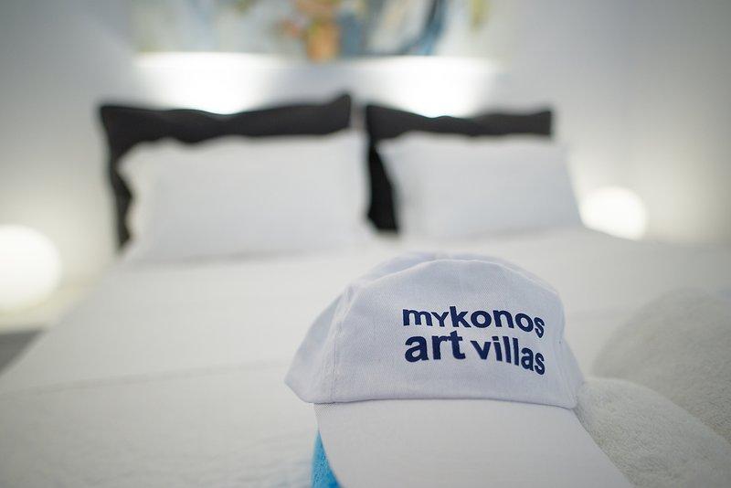 camera da letto matrimoniale Mykonos Art Villas 2