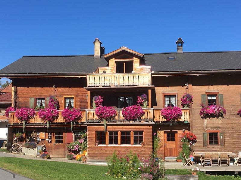 La bella Walser Casa dalla parte anteriore