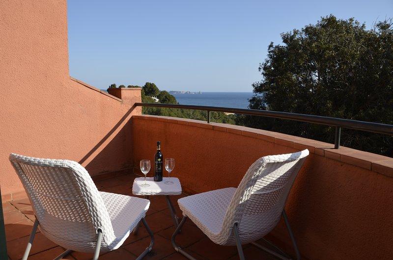 Dormitorios con vistas al mar terraza - Sa Punta COSTA BRAVA