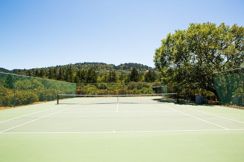 Court de tennis privé