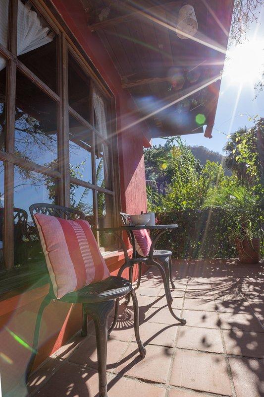 Upper private balcony