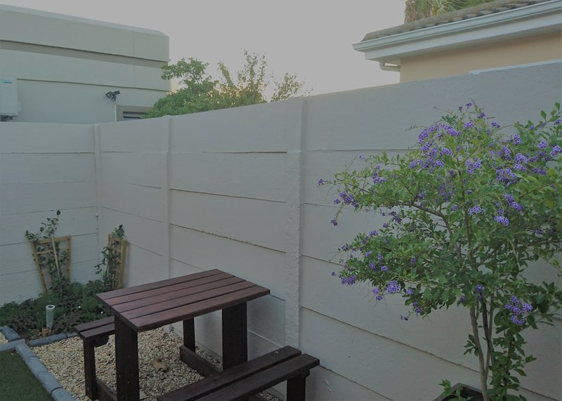 small courtyard with outside seating area