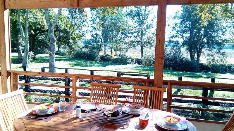 Chalet cottage haut de gamme Landes, location de vacances à Azur