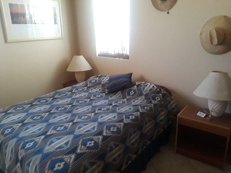 Queen beds, comfortable bedrooms