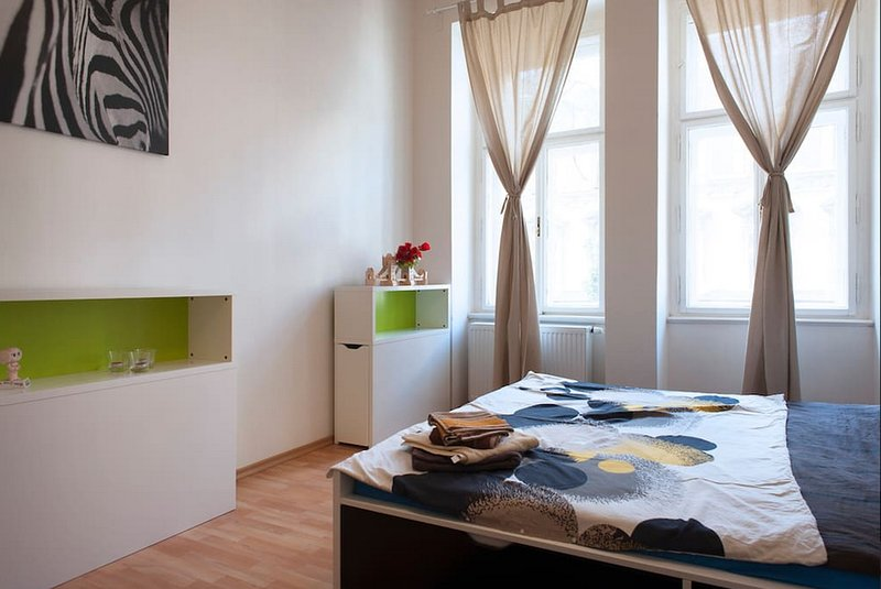 Spacious private room for 2 in center of Prague, Vinohrady. PERFECT LOCATION, vacation rental in Prague